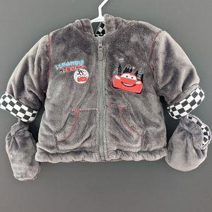 Disney Cars Lightning McQueen zip up jacket.